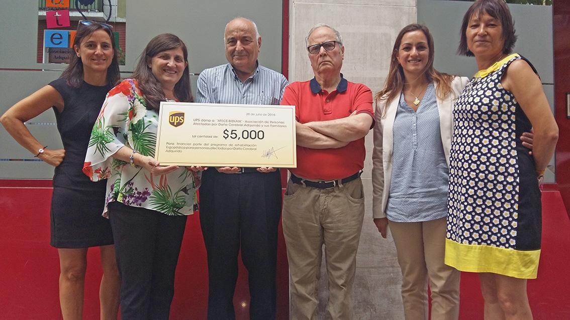 donación UPS a ATECE Bizkaia