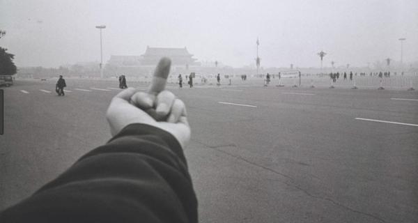 Fotografía del artista y activista chino Ai Weiwei